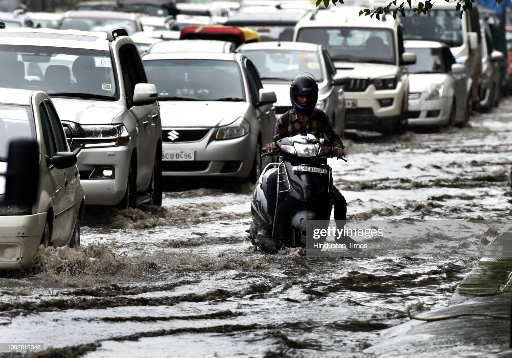 Heavy Showers Led Water Logging In Several Parts Of Delhi