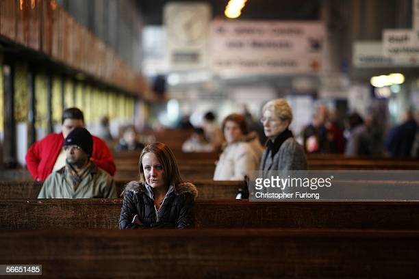 Commuters wait for their buses home at Preston bus station on January 23 2006 in Preston England Scientists from Cardiff University have worked out a...