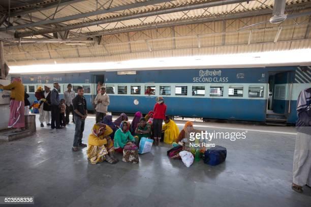 Commuters waiting at the Railway Station, Jodhpur