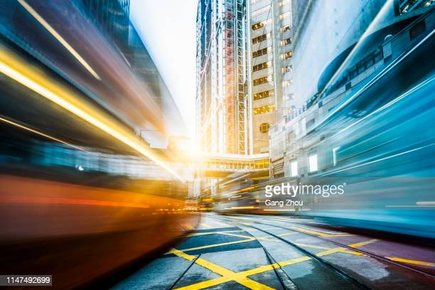 commuting in city, hong kong - central stock pictures, royalty-free photos & images