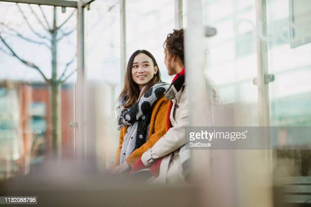 commuting together - waiting stock pictures, royalty-free photos & images