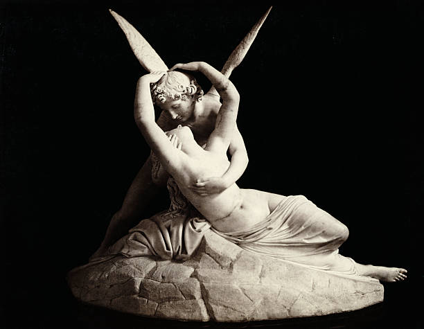 A stature of Cupid and Psyche embracing from the Villa Carlotta Undated photograph