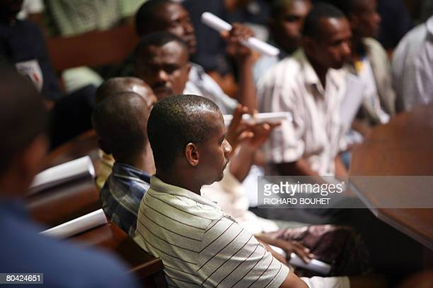 Comoros island of Anjouan Mohamed Bacar sits in a room of the Courthouse in Saint Denis on the French island of La Reunion on March 29 2008 A court...