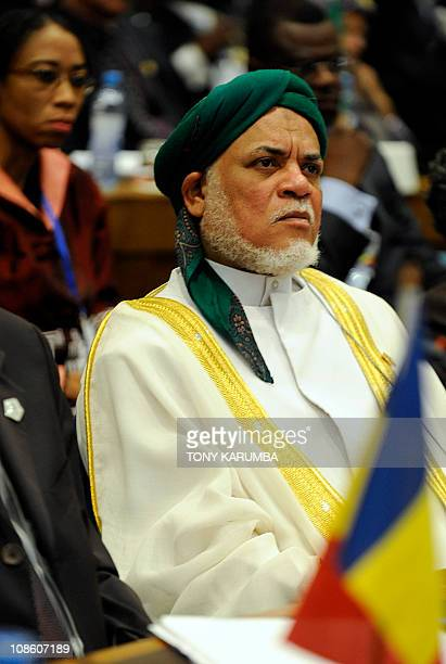 Comoros' President Ahmed Abdalla Sambi attends the opening ceremony of the 16th Ordinary Summit of the African Union on January 30 2011 in Addis...