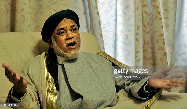 Comoros' President Ahmed Abdalla Sambi speaks during an interview with AFP at the Presidential palace on April 13 2010 in the capital Moroni The...