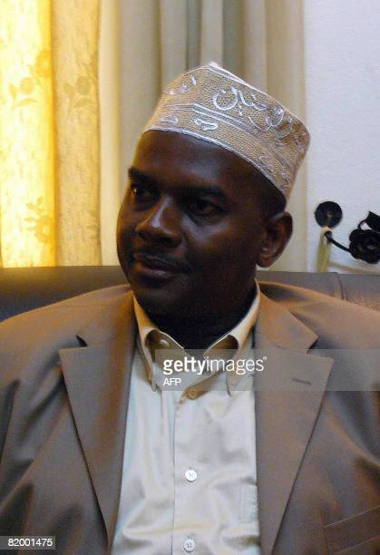 Comoros rebel leader Mohamed Bacar who fled to France's Indian Ocean island of Reunion in March is pictured after his arrival on July 19 2008 in...