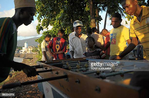 Comoros' youth play tablesoccer at Moroni on April 6 2010 The Indian Ocean archipelago of Comoros faces political instability after President Ahmed...