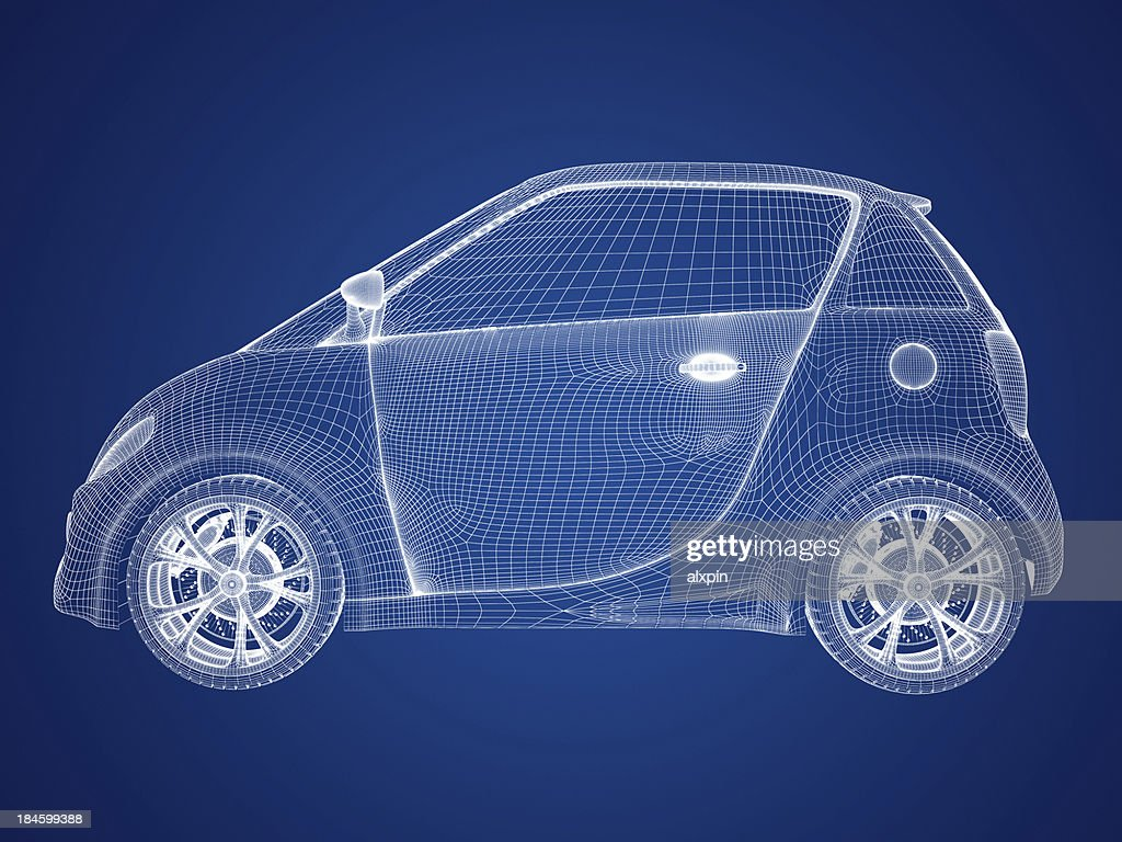 Compact car blueprint stock photo getty images compact car blueprint stock photo malvernweather Images