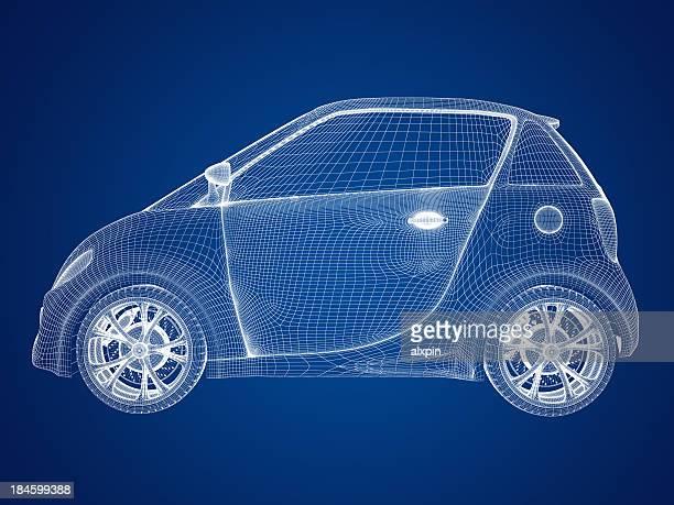 コンパクトカー設計図