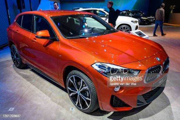 X2 compact crossover SUV on display at Brussels Expo on January 9 2020 in Brussels Belgium The X2 is available in a standard M Sport and M Sport X...
