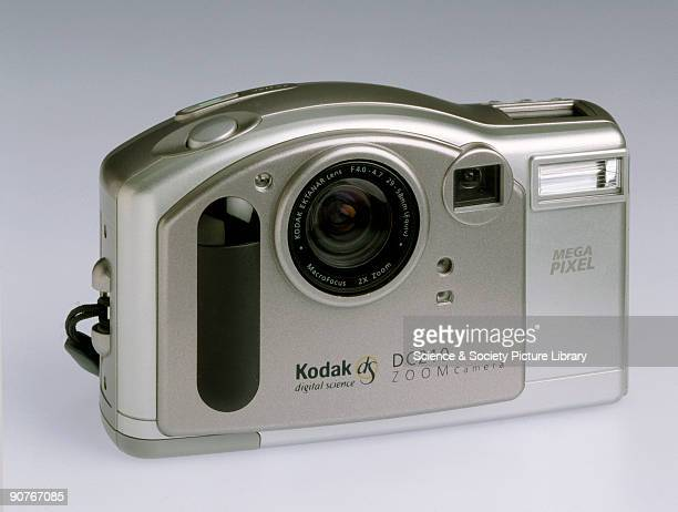Compact digital camera with 2x wideangle zoom lens capable of producing a 1152 x 864 pixel resolution image made by Kodak USA