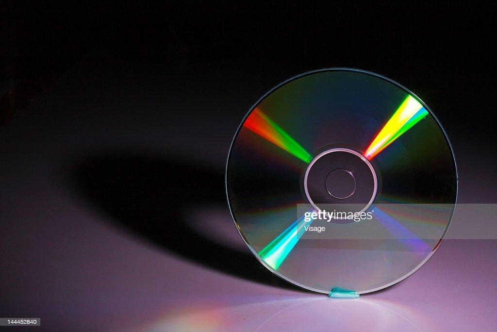 Compact disc, close-up : Stock Photo