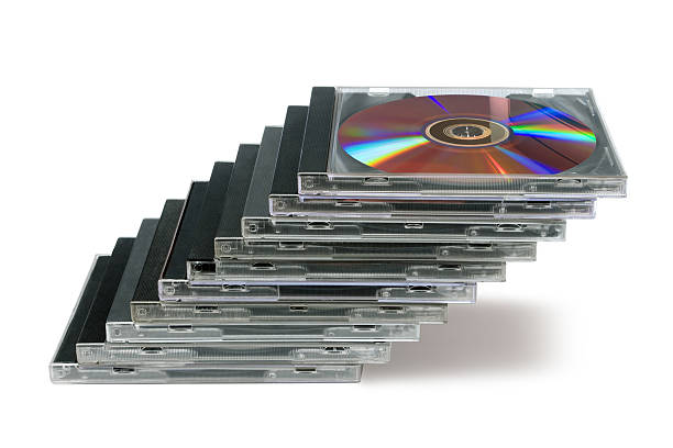 Compact disks like a staircase