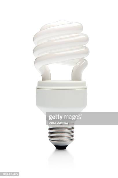 compact flourescent light bulb - energy efficient lightbulb stock pictures, royalty-free photos & images