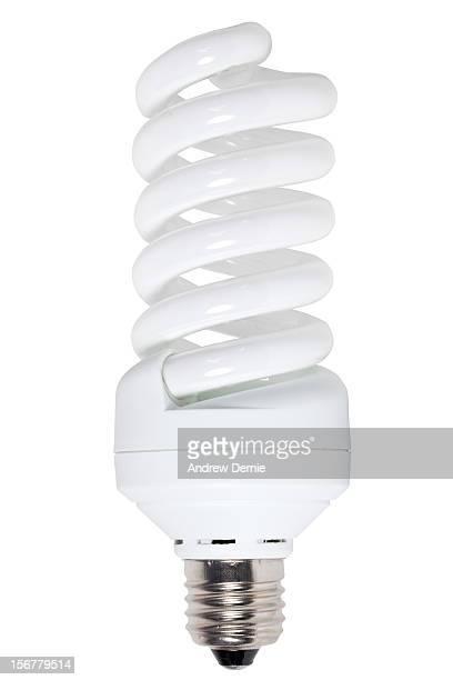 compact fluorescent light bulb - bombilla de bajo consumo fotografías e imágenes de stock