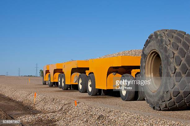 Compacting Equipment For New Road Construction; Edmonton, Alberta, Canada