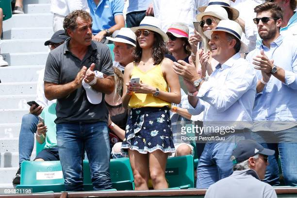 Companion of Rafael Nadal Maria Francisca Perello Xisca attends the Men Final of the 2017 French Tennis Open Day Fithteen at Roland Garros on June 11...