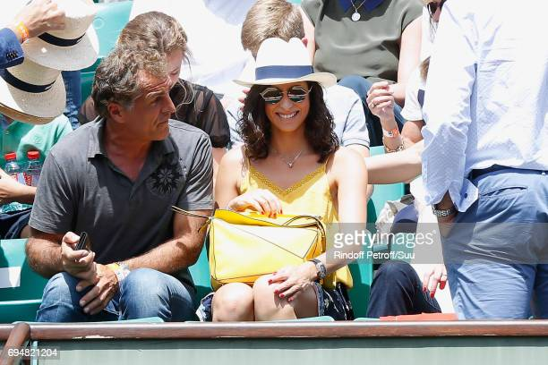 Companion of Rafael Nadal Maria Francisca Perello 'Xisca' attends the Men Final of the 2017 French Tennis Open Day Fithteen at Roland Garros on June...