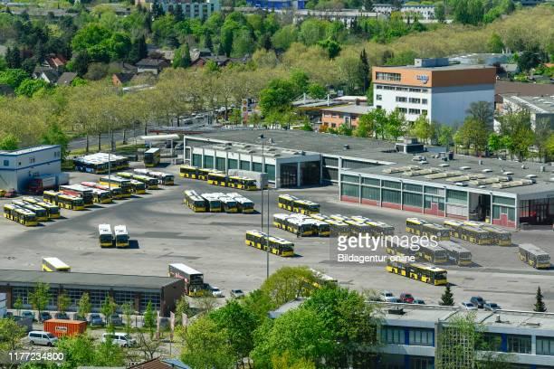 Company court, at the coach court, Wilhelm's town, Spandau, Berlin, Germany, BVG Betriebshof, Am Omnibushof, Wilhelmstadt, Germany.