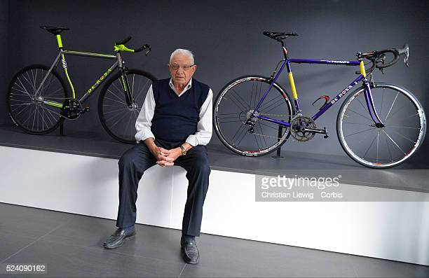 Company founder Ugo De Rosa poses at the headquarters of the bicycles De Rosa in Cusano Milanino De Rosa's company became renowned during the late...