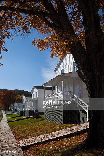 company houses, cass scenic railroad state park, cass, west virginia, usa - protohistory_of_west_virginia stock pictures, royalty-free photos & images