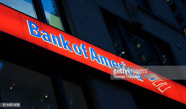 New York United States of America February 26 Company logo Bank of America on February 26 2016 in New York United States of America