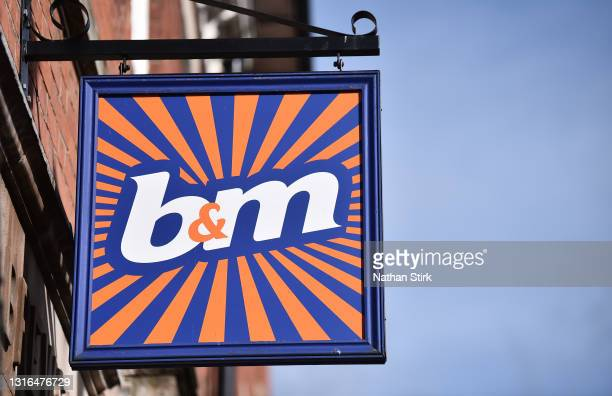 Company logo is displayed outside one of its stores on May 05, 2021 in Stone, England.