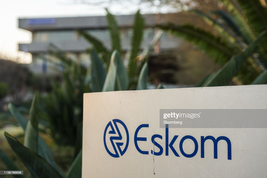 A company logo is displayed outside the Eskom Holdings SOC Ltd