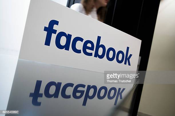Company Logo of facebook on January 18 2016 in Berlin Germany