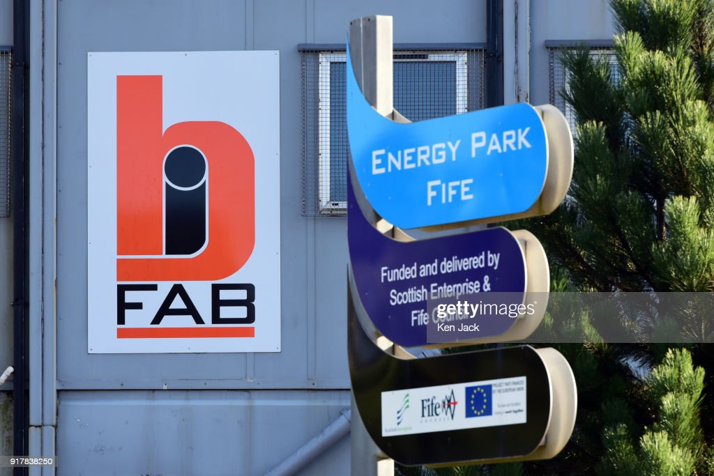A company logo on a building at the BiFab Methil yard in Fife where many of the workforce were to be issued with redundancy notices today, on February 13, 2018 in Buckhaven, Scotland. The company faced possible administration in November 2017 following disputes over a contract to supply large-scale metal jackets for offshore wind turbines, but was enabled to continue trading by a deal brokered by the Scottish Government, however the contract is now nearing completion.