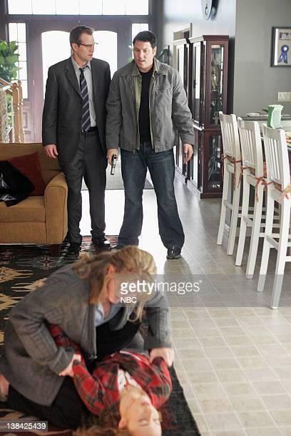 HEROES Company Man Episode 17 Aired 2/26/07 Pictured Jack Coleman as Mr Bennet/HRG Greg Grunberg as Matt Parkman Ashley Crow as Sandra Bennet Hayden...