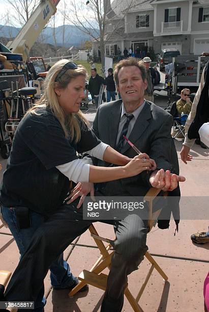 HEROES 'Company Man' Episode 17 Aired 2/26/07 Pictured Makeup artist Jack Coleman as Mr Bennet/HRG