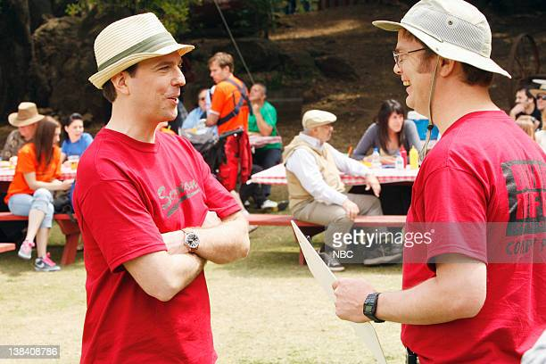 THE OFFICE Company Picnic Episode 26 Pictured Ed Helms as Andy Bernard Rainn Wilson as Dwight Schrute