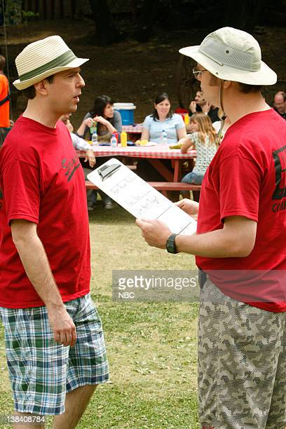 THE OFFICE Company Picnic Episode 528 Airdate Pictured Ed Helms as Andy Bernard Rainn Wilson as Dwight Schrute