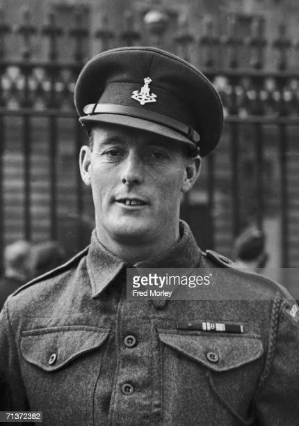 Company Sergeant Major Stanley Hollis of the Green Howards winner of the first Victoria Cross awarded for bravery during the DDay landings pictured...