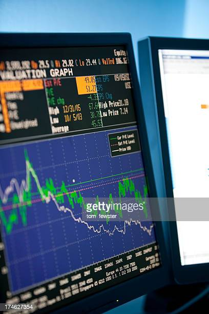 company share price information - bull market stock pictures, royalty-free photos & images