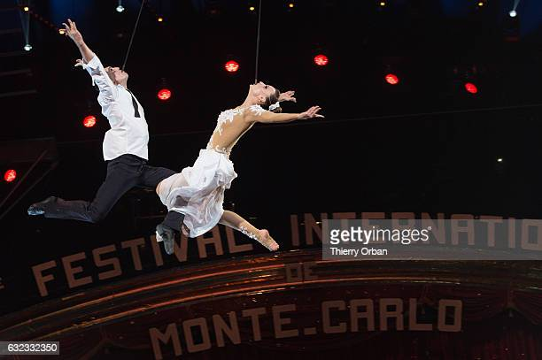 company Sky Angels perform during the 41th MonteCarlo International Circus Festival on January 21 2017 in Monaco Monaco