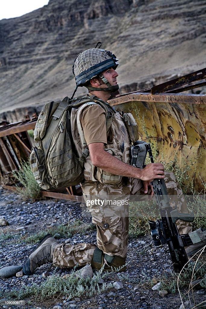 A D Company soldier, 2nd Battalion Parachute Regiment, on