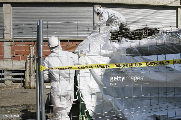 Company Specializing in asbestos removal from an old factory before its demolition