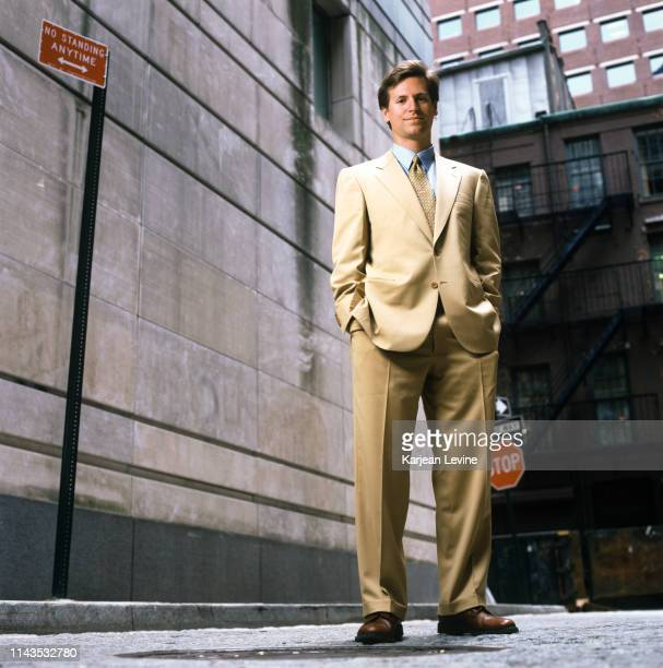 CompareNet founder Trevor Traina poses for a portrait on a Financial District street on July 7 1998 in New York City New York