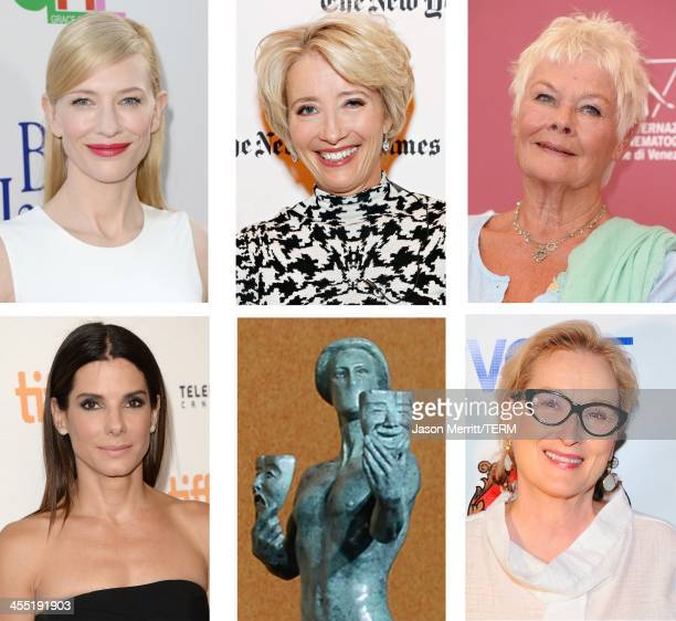 A comparison has been made between the 2014 Screen Actors Guild Awards nominees for Outstanding Performance by a Female Actor in a Leading Role...