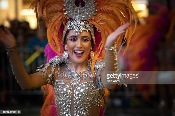 Comparsa Tymbalia from Spain during the Cathay Pacific International Chinese New Year Night Parade on February 5 2019 in Hong Kong Hong Kong