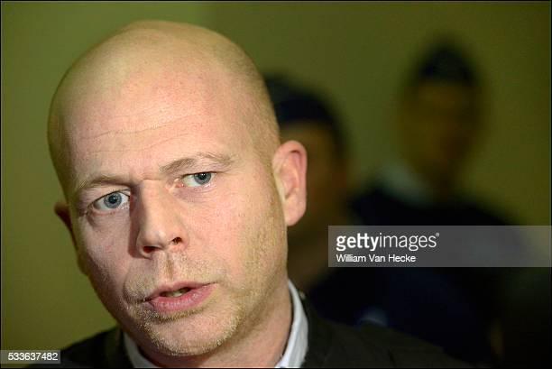 Comparution en Chambre du Conseil de la femme du terroriste Hakim Benlagdhem abattu sur l'A8 Verschijning voor de Raadkamer van de vrouw van...