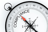 Compass Arrow Pointing to Compliance