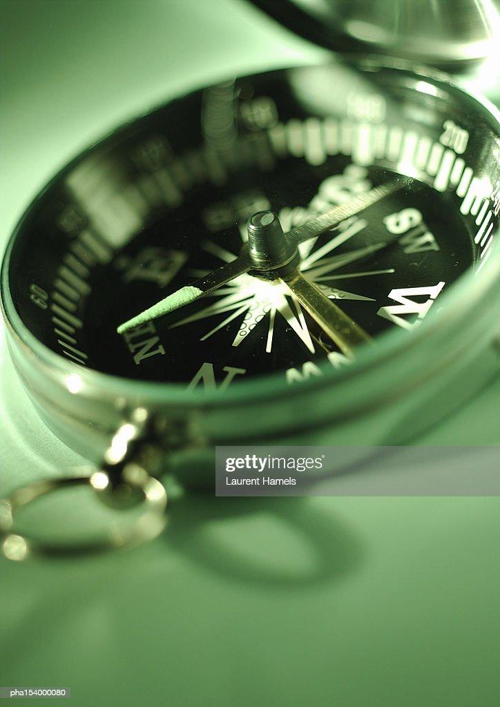 Compass, close-up. : Stock Photo