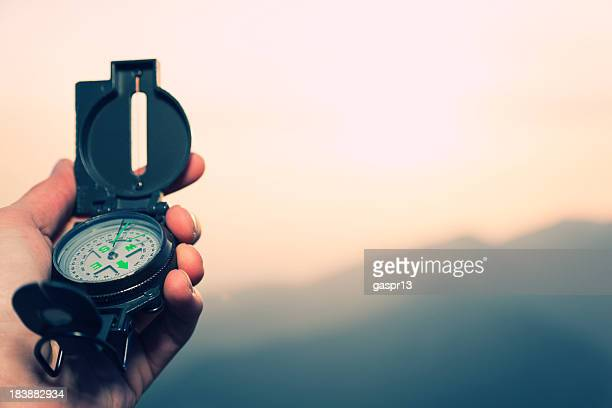 compass in der hand