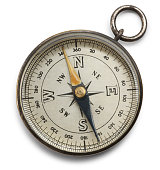 Compass isolated on a white background