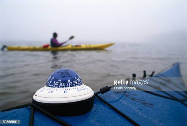 compass on a kayak - lake superior provincial park stock pictures, royalty-free photos & images
