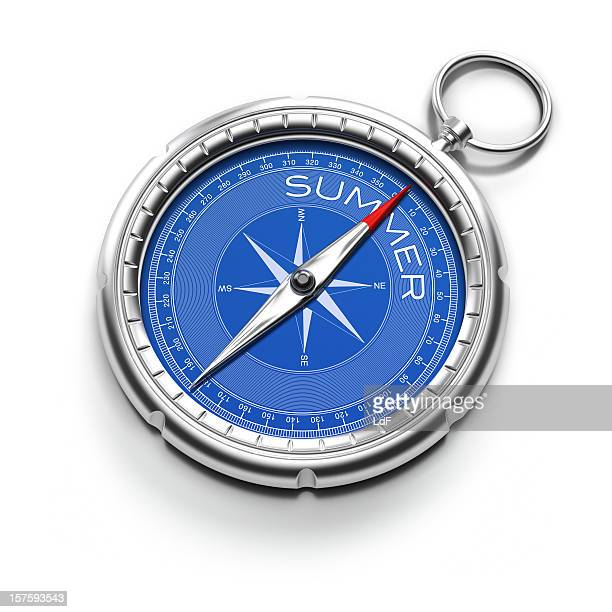 Compass pointing to Summer