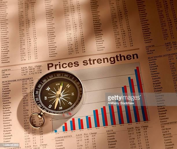 Compass points towards prosperity